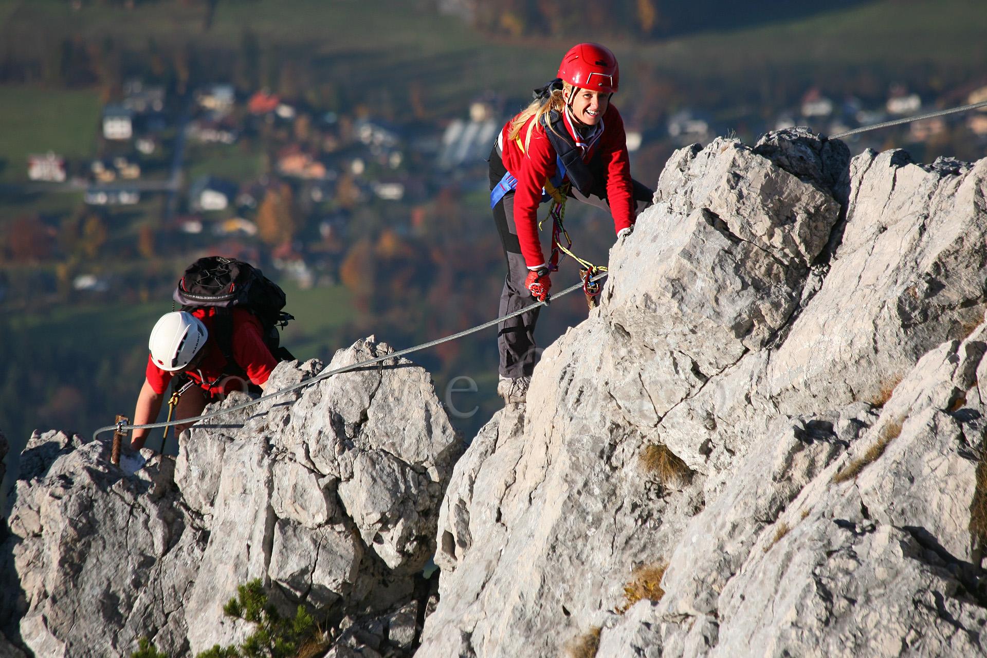 Klettersteig Katrin : Fotos mit action dynamik und bewegung